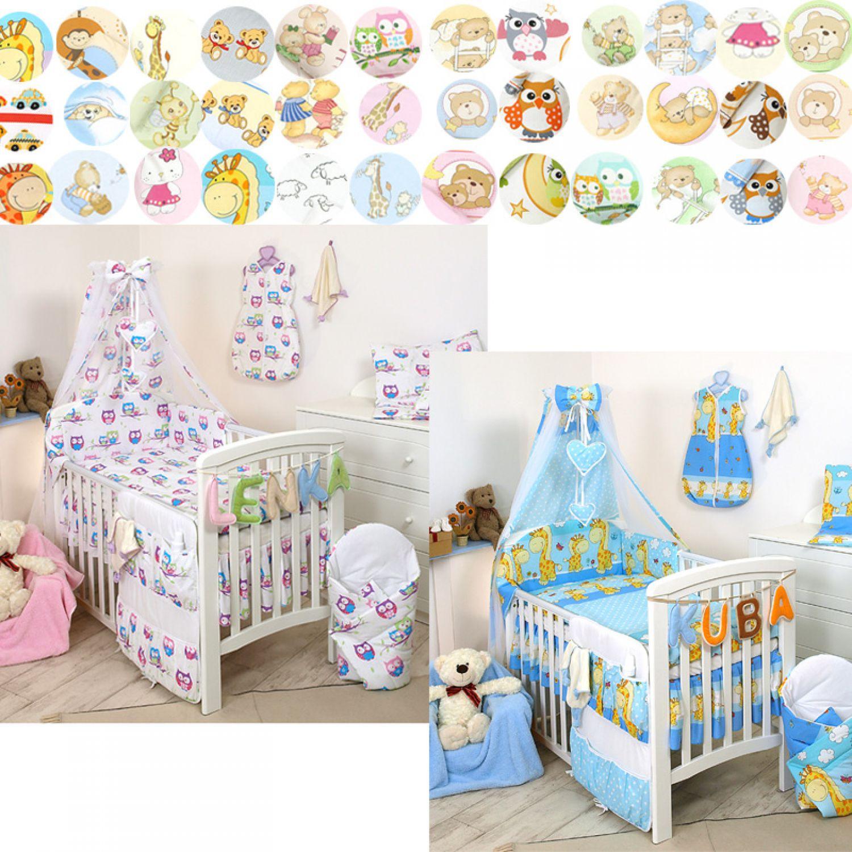 10tlg babybettw sche set 135x100 kinderbettw sche. Black Bedroom Furniture Sets. Home Design Ideas