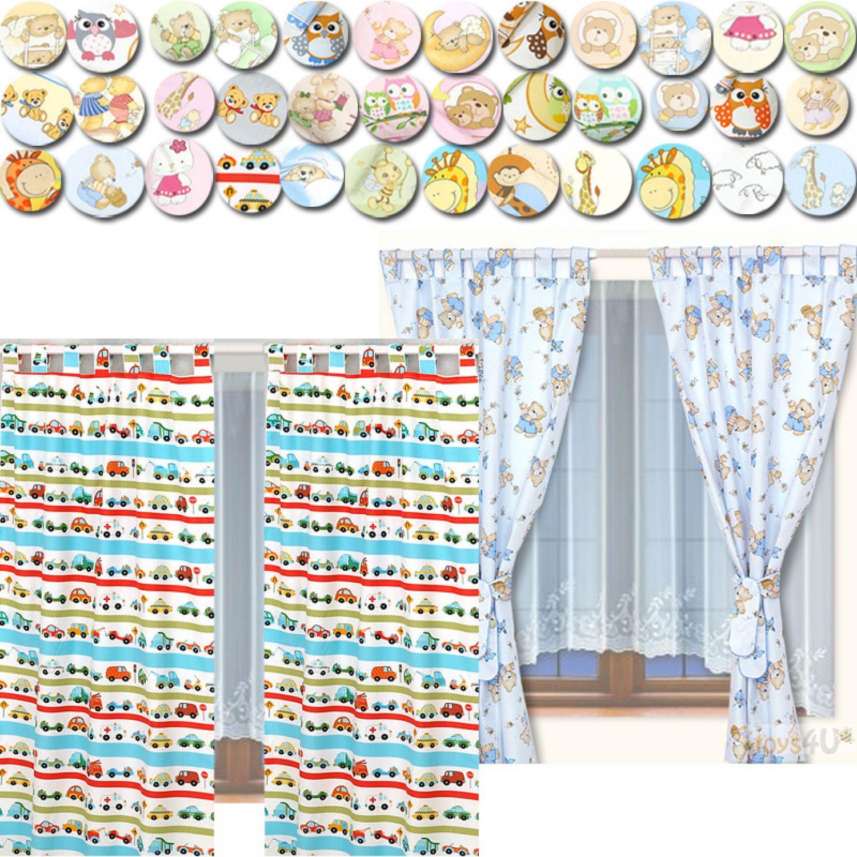 set kinderzimmer vorhang 155x95cm 2 st ck gardinen. Black Bedroom Furniture Sets. Home Design Ideas