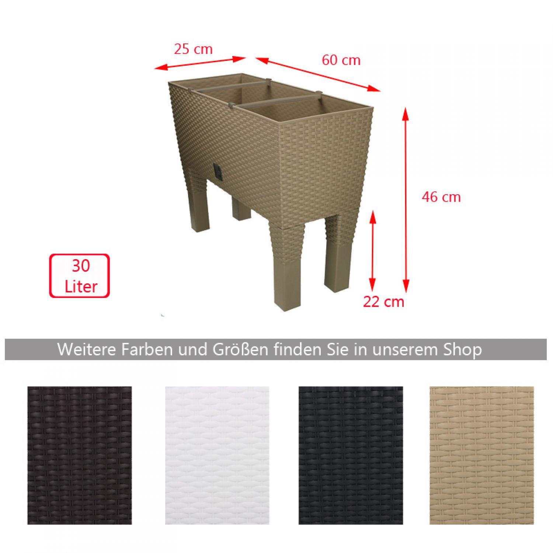 balkonkasten hoch mit bew sserungssystem bertopf 60 cm. Black Bedroom Furniture Sets. Home Design Ideas