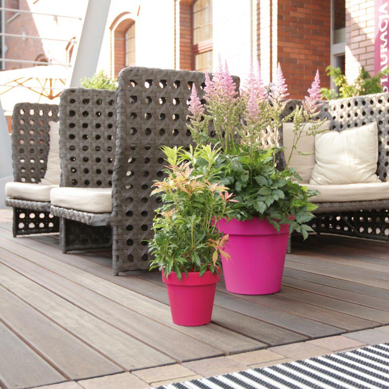 blumentopf bertopf kunststoff 49 cm farbe terracotta. Black Bedroom Furniture Sets. Home Design Ideas