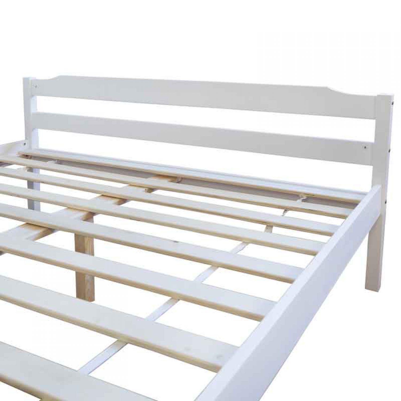 holzbett doppelbett futonbett 140x200 wei doppelbett. Black Bedroom Furniture Sets. Home Design Ideas
