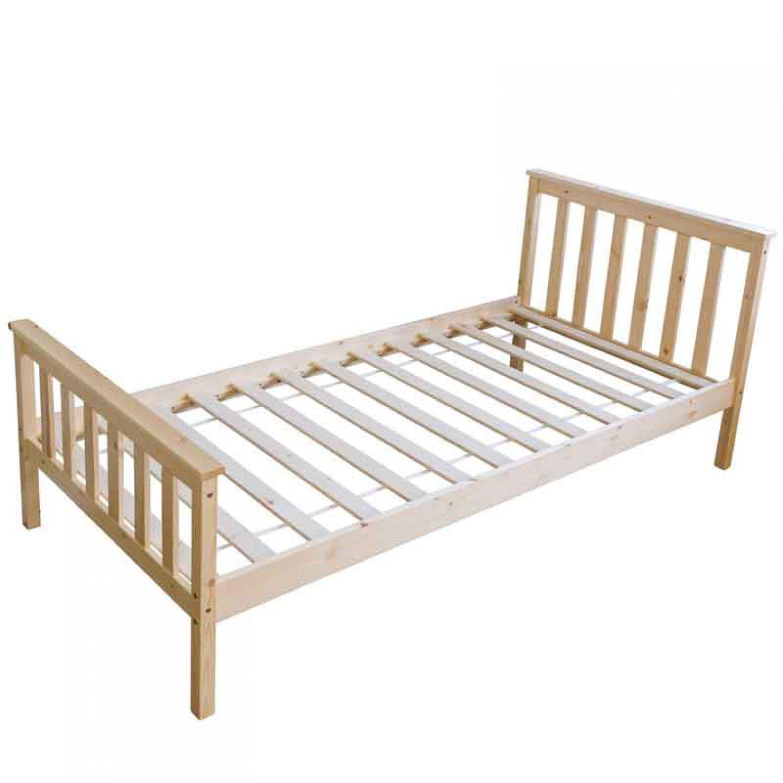 jugendbett kinderbett bettgestell 90x200 natur. Black Bedroom Furniture Sets. Home Design Ideas