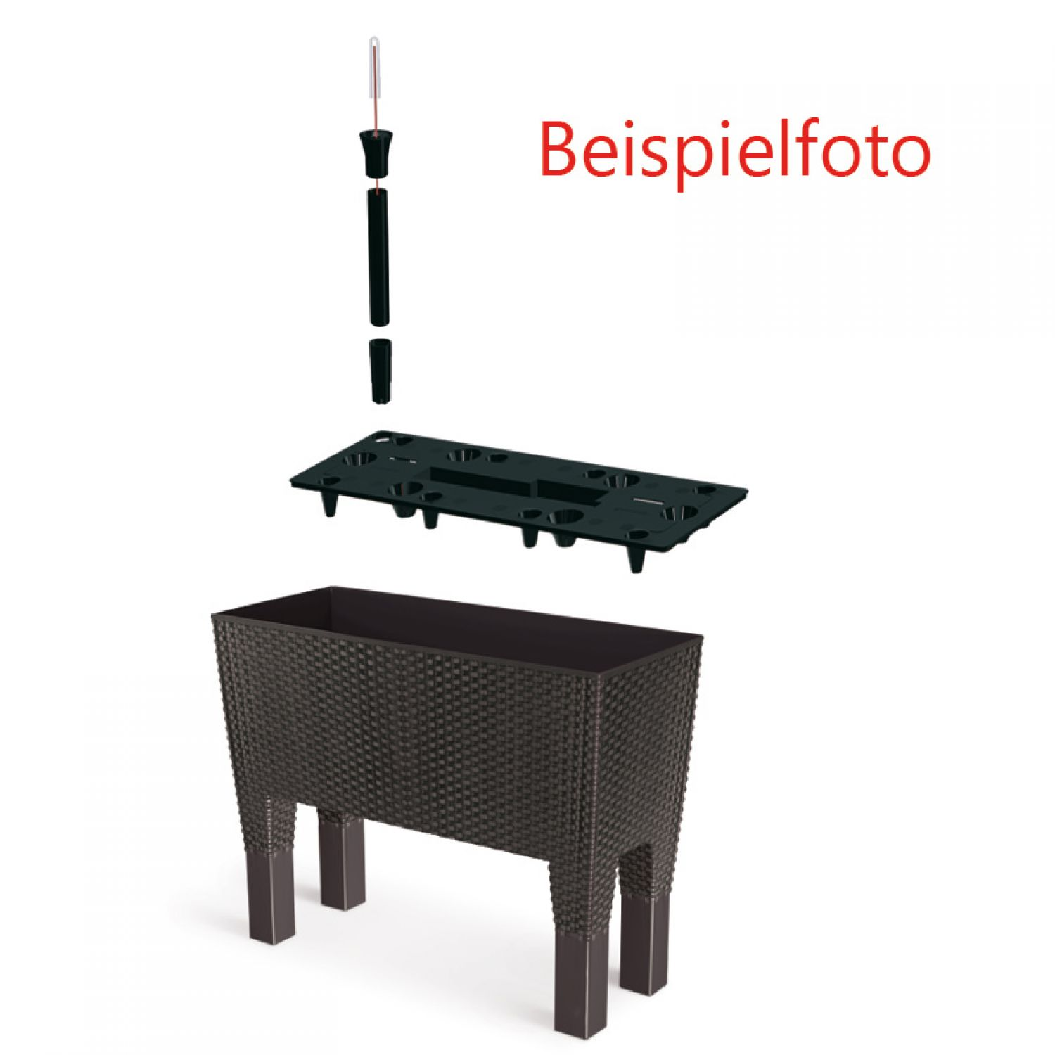 blumenkasten mit wasserspeicher blumentopf bertopf. Black Bedroom Furniture Sets. Home Design Ideas