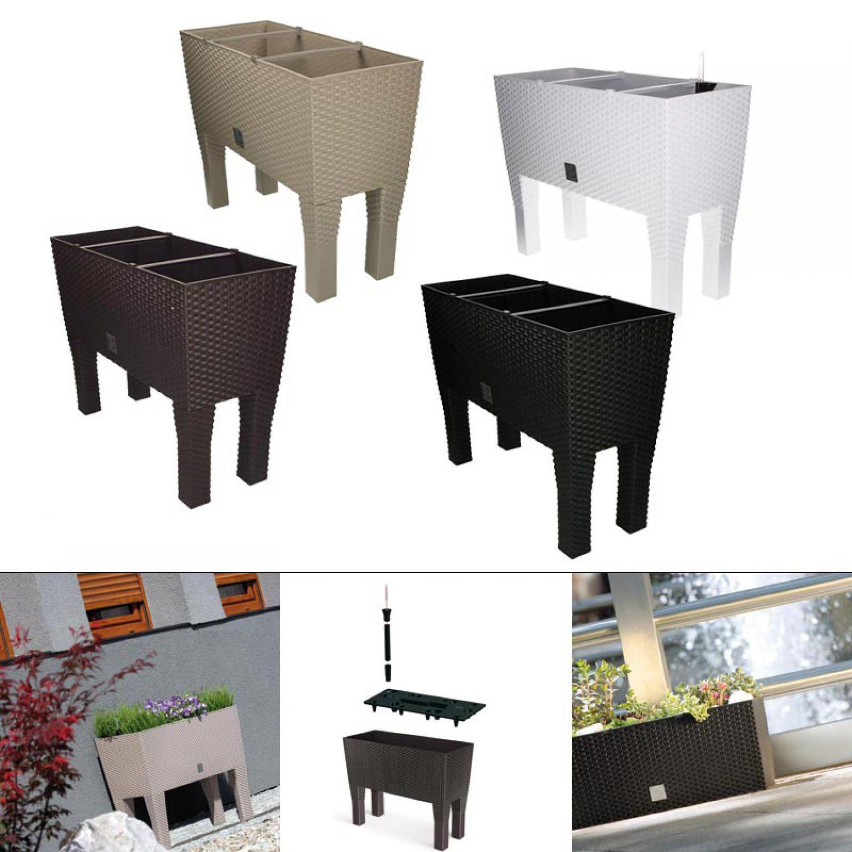 blumenkasten mit wasserspeicher blumentopf bertopf. Black Bedroom Furniture Sets. Home Design Ideas