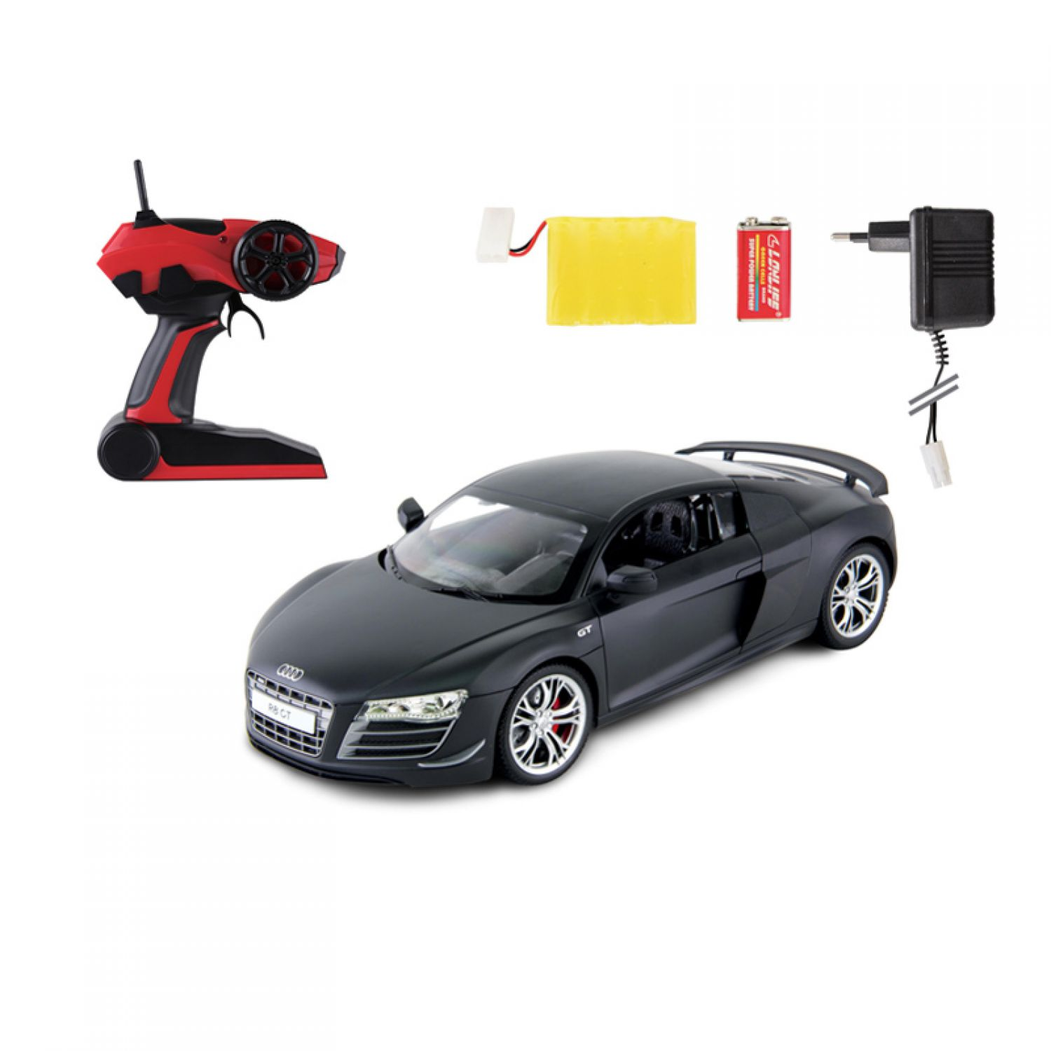 audi r8 gt ferngesteuertes auto 1 14 2 4 ghz schwarz. Black Bedroom Furniture Sets. Home Design Ideas