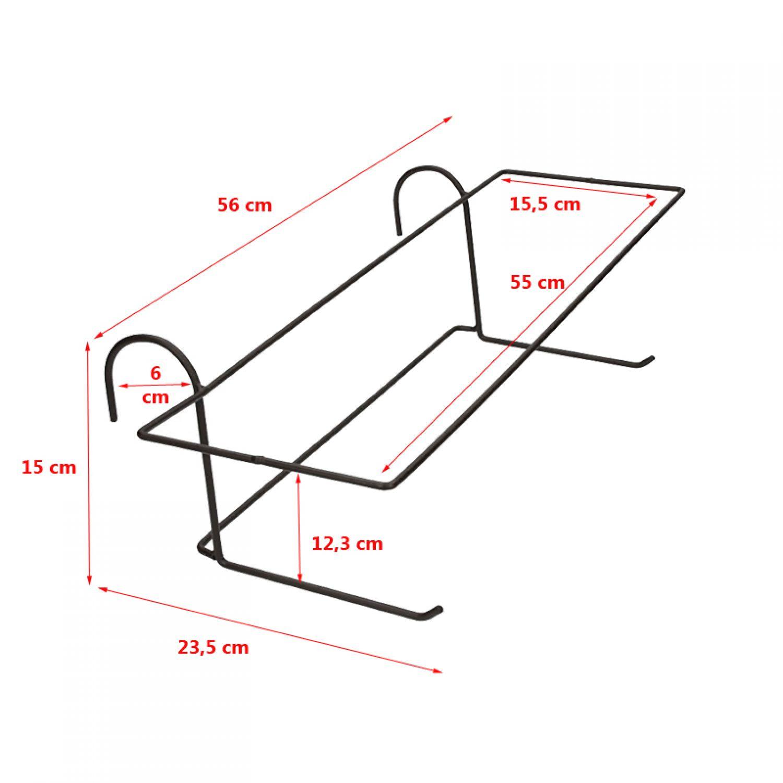 halterung f r blumenkasten blument pfe blumentopfhalter balkonkastenhalterung ebay. Black Bedroom Furniture Sets. Home Design Ideas