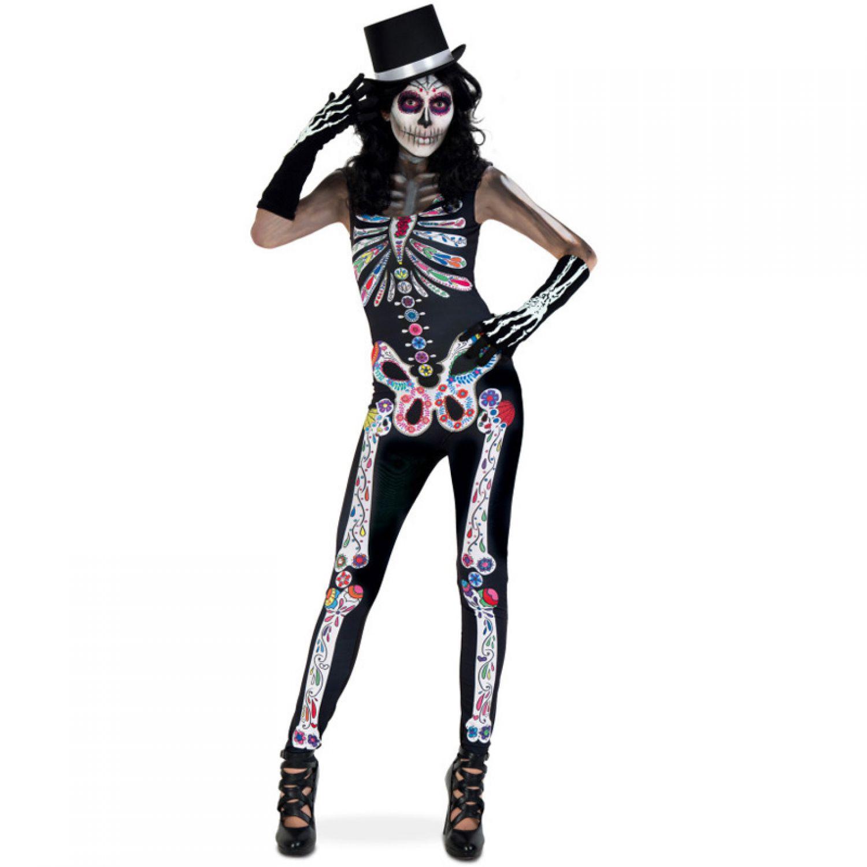 costume combinaison catrina gr s m culte des morts katrina halloween carnaval carnaval
