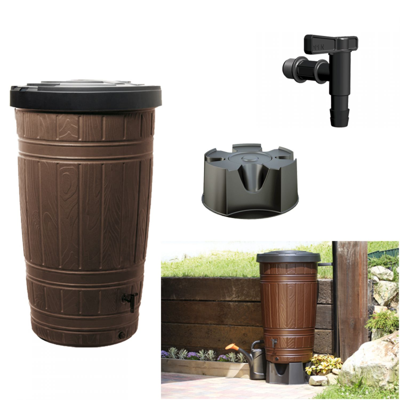 regentonne woodcan wassertonne regenwasser 265 l tank. Black Bedroom Furniture Sets. Home Design Ideas