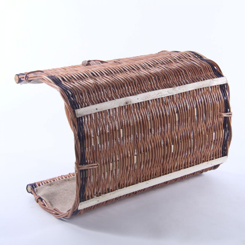 panier pour bois de chemin e 60x45x50 jute en osier ebay. Black Bedroom Furniture Sets. Home Design Ideas