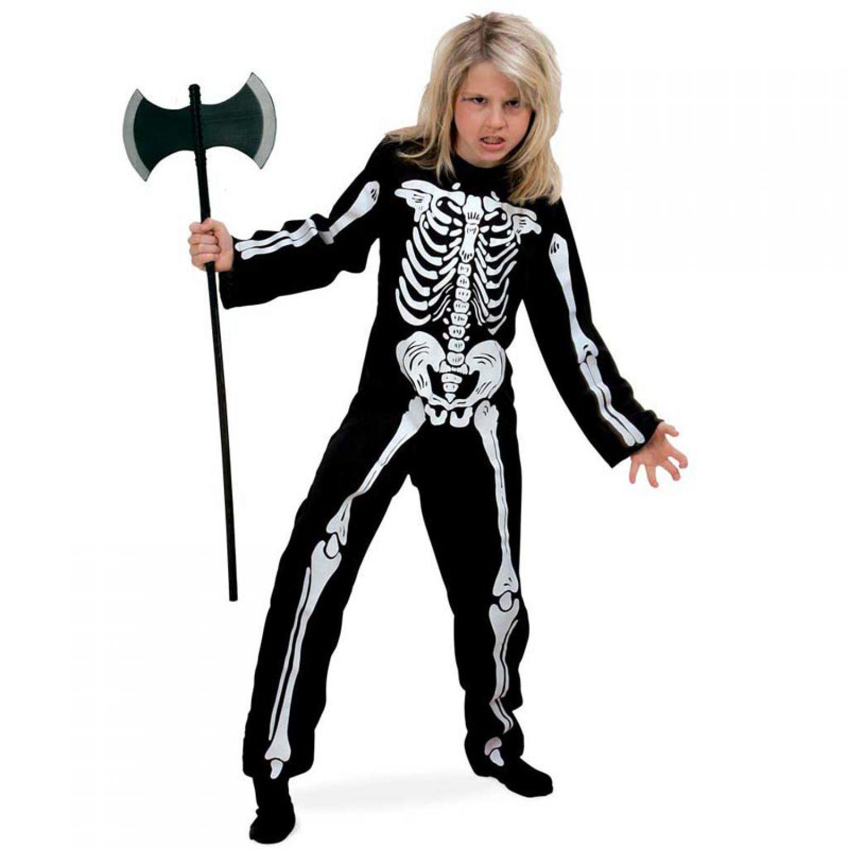 kost m skelett overall halloween kinder fasching karneval grusel. Black Bedroom Furniture Sets. Home Design Ideas