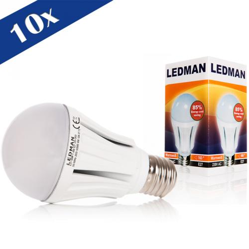 10x ledman e27 led lampe 10 watt 100w 1050lm smds 160 abstrahlwinkel birne ebay. Black Bedroom Furniture Sets. Home Design Ideas