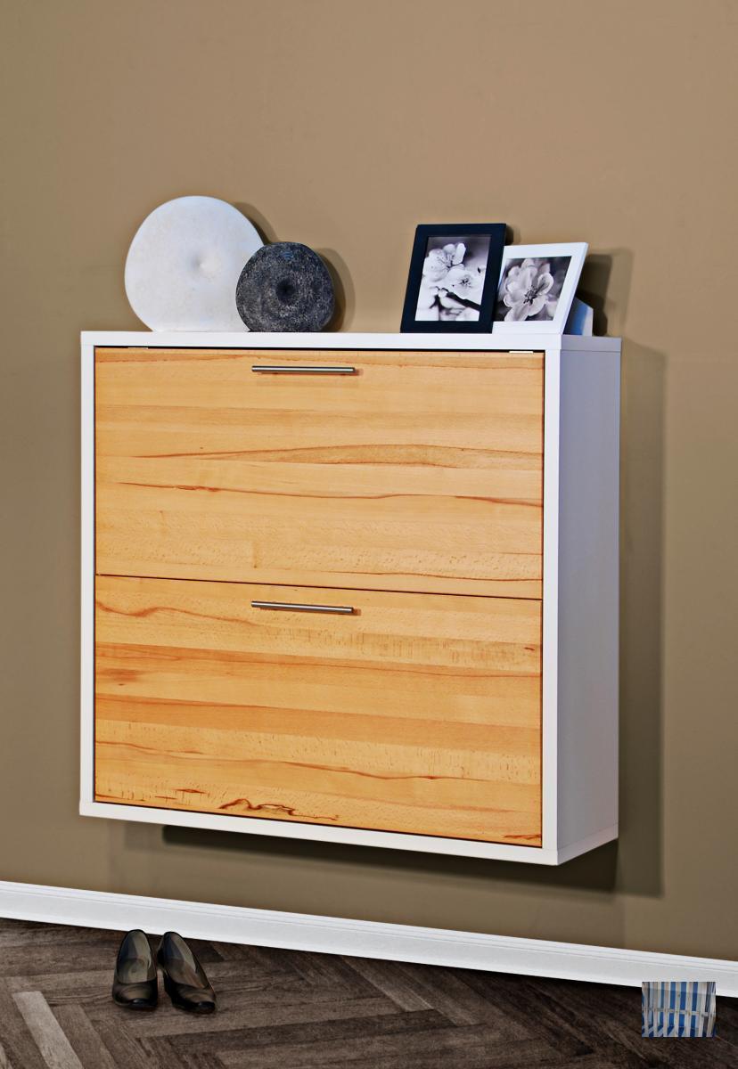 959 serie q moderner h nge schuhschrank hochglanz wei massiven kernbuche ebay. Black Bedroom Furniture Sets. Home Design Ideas