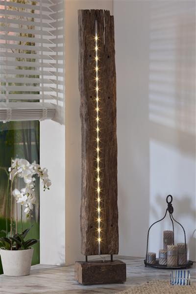 wohnzimmer stehlampe led: – Teak-Altholz – LED-Beleuchtung – Stehlampe – Wohnzimmer