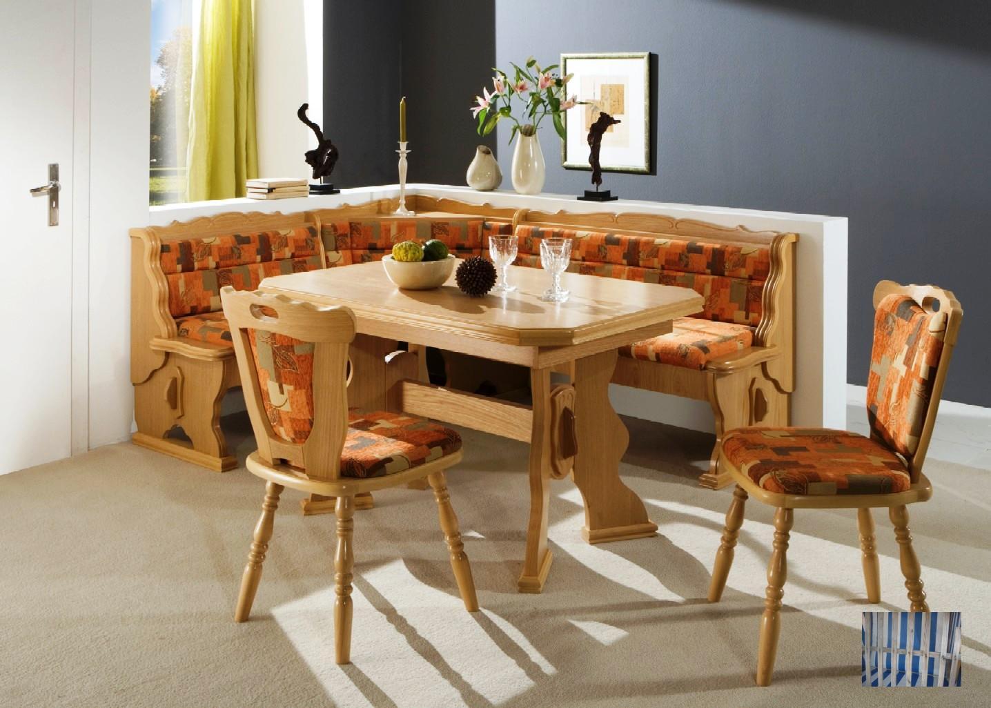 1108 dt lieferant eckbankgruppe eiche natur inkl tisch und 2 st hle. Black Bedroom Furniture Sets. Home Design Ideas