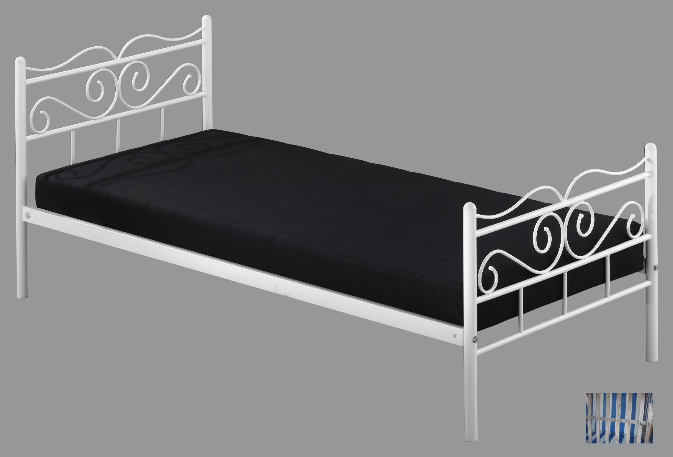 1249 modernes tagesbett metallbett einzelbett kinderbett for Einzelbett metall