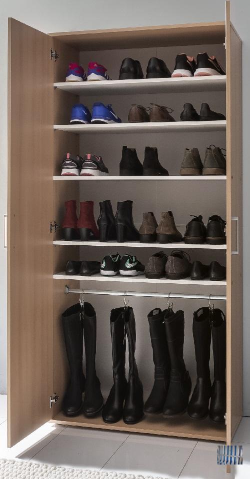 2788 moderner schuhschrank buche dekor grosser. Black Bedroom Furniture Sets. Home Design Ideas