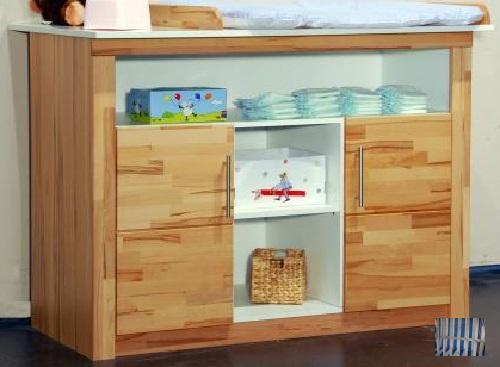 2873 made in brd sch ne wickelkommode kernbuche teilmassiv baby wickelkommo ebay. Black Bedroom Furniture Sets. Home Design Ideas