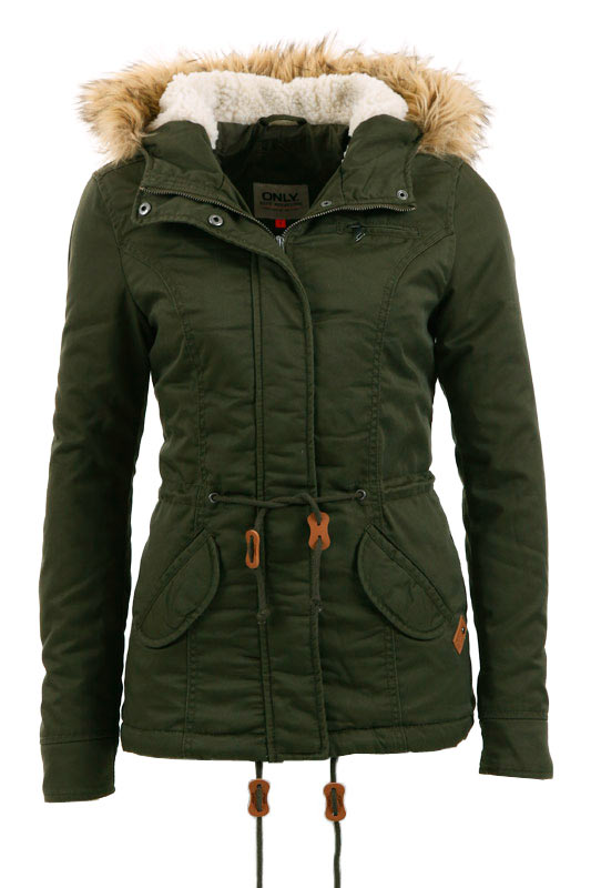 only damen winterjacke lorca short canvas jacket 15076965. Black Bedroom Furniture Sets. Home Design Ideas