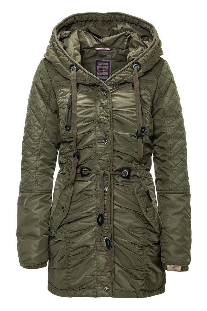 dreimaster damen wintermantel damenparka damenjacke coat jacket oliv sale ebay. Black Bedroom Furniture Sets. Home Design Ideas