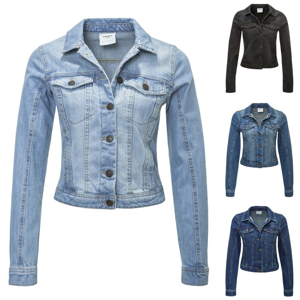 neu vero moda damen jeansjacke bergangsjacke blouson. Black Bedroom Furniture Sets. Home Design Ideas