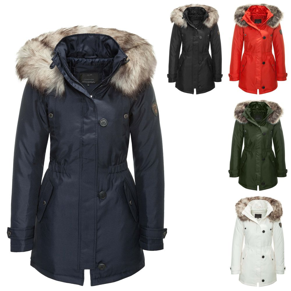 only damen parka winterjacke kurzmantel bergangs winter mantel kapuzenjacke ebay. Black Bedroom Furniture Sets. Home Design Ideas