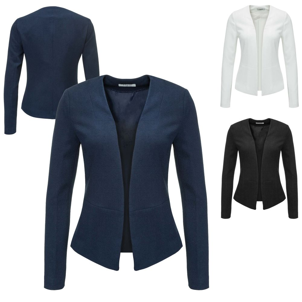 pieces damen blazer anzugjacke business cocktail sakko anzug freizeitblazer neu ebay. Black Bedroom Furniture Sets. Home Design Ideas