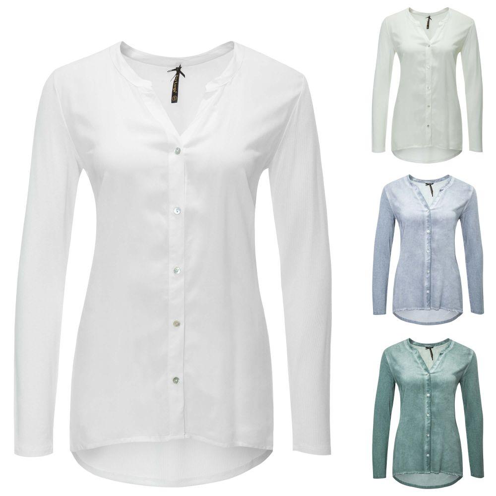 key largo damen langarmbluse hemdbluse business b ro office bluse hemd shirt top ebay. Black Bedroom Furniture Sets. Home Design Ideas