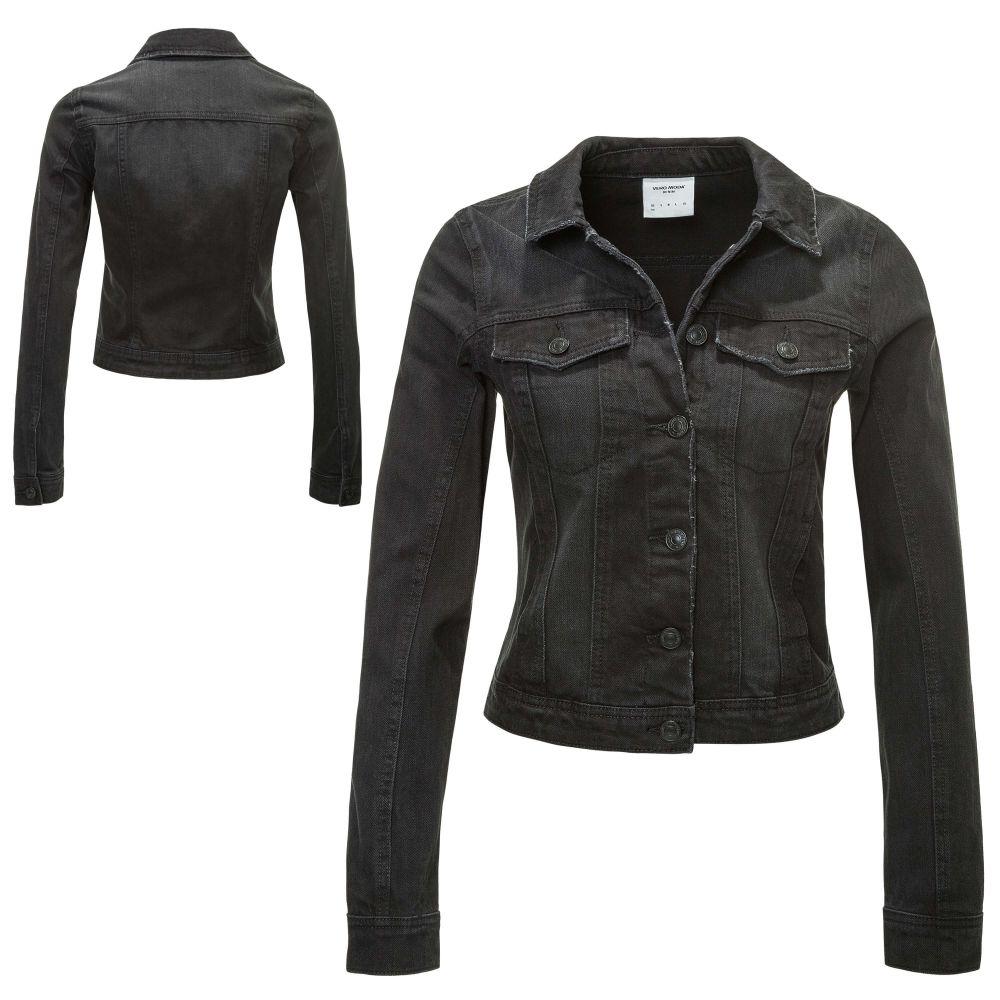 vero moda blouson en jean femme veste demi saison jeans manches longues neuf ebay. Black Bedroom Furniture Sets. Home Design Ideas