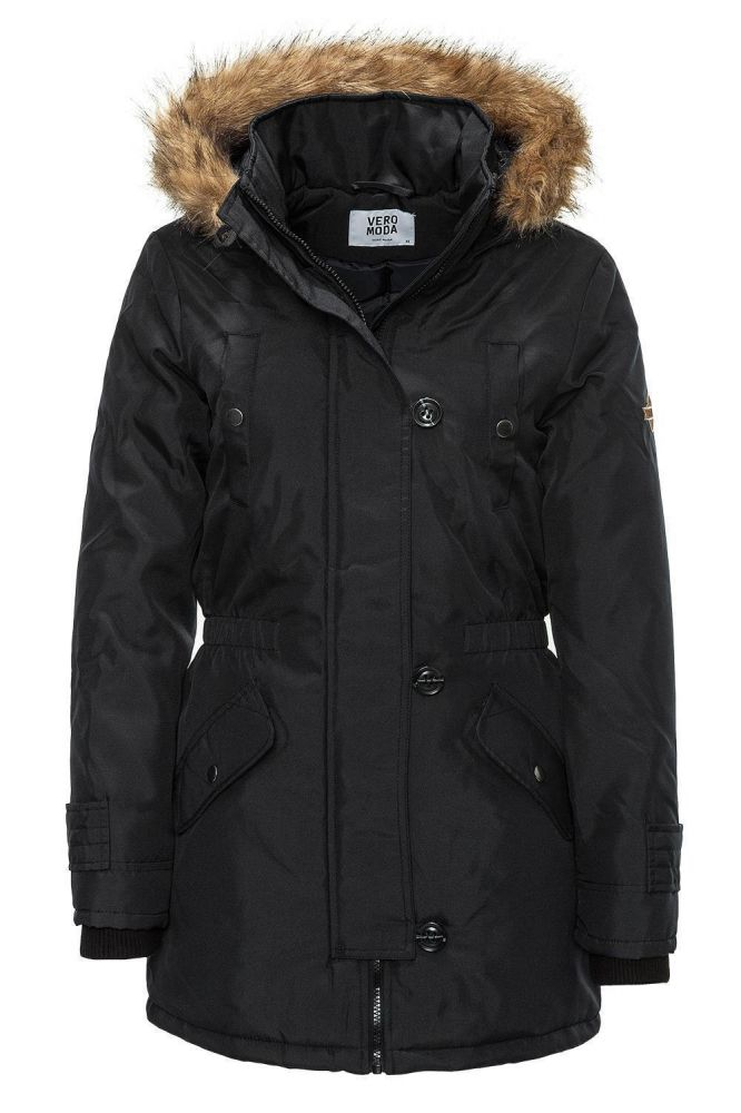 vero moda damen parka winterjacke jacke winter jacket. Black Bedroom Furniture Sets. Home Design Ideas