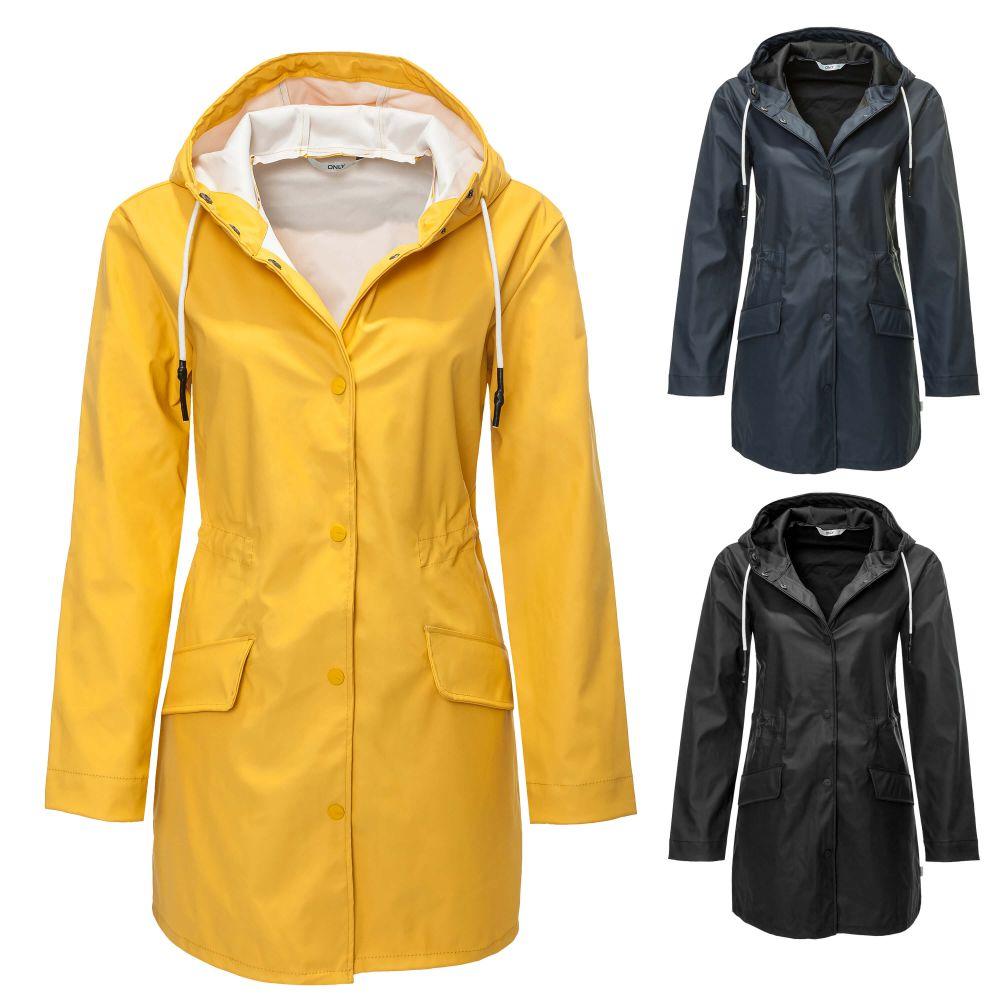 only manteau demi saison femme imperm able manteau de pluie veste blouson neuf ebay. Black Bedroom Furniture Sets. Home Design Ideas