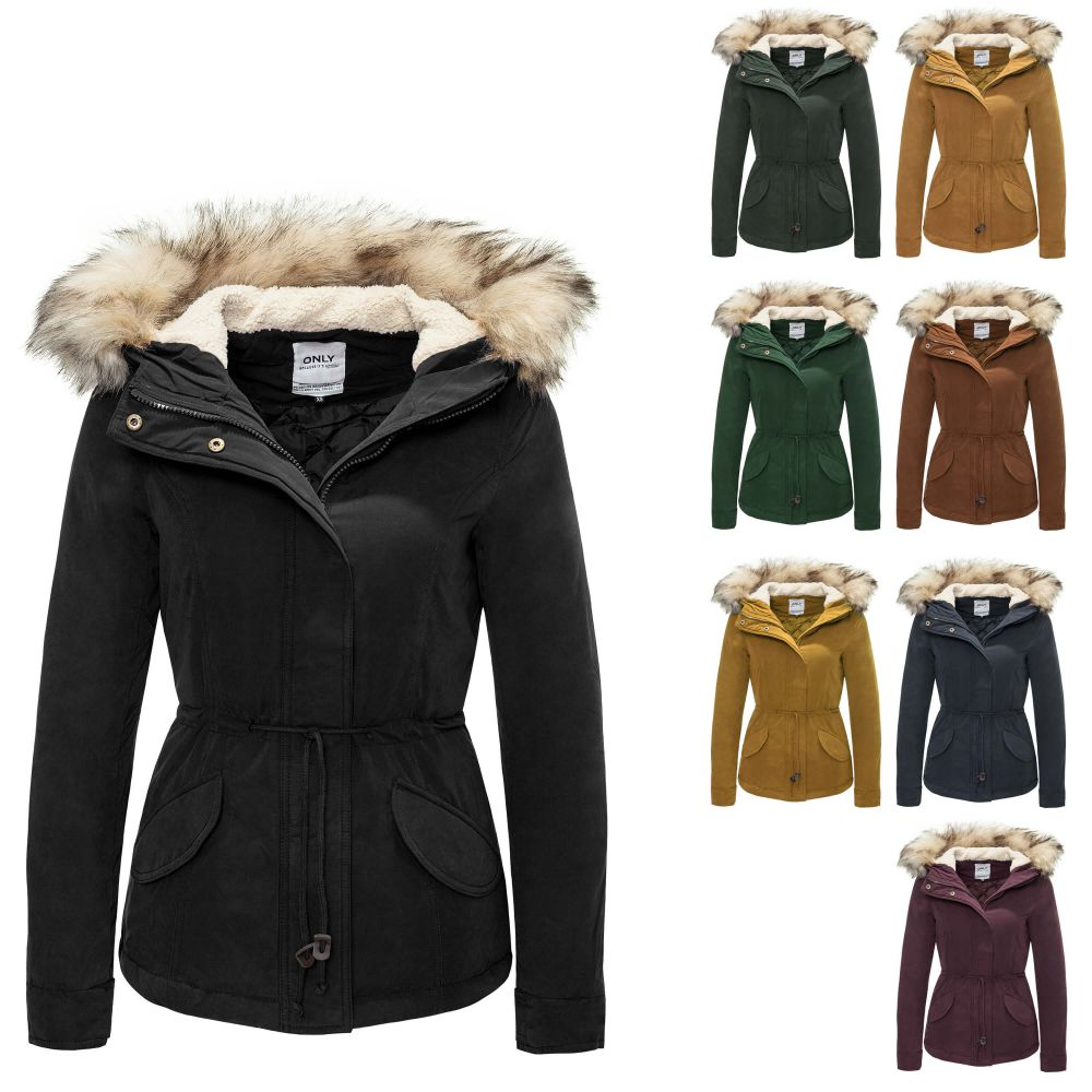 only damen parka kurzmantel winterjacke blouson mantel. Black Bedroom Furniture Sets. Home Design Ideas