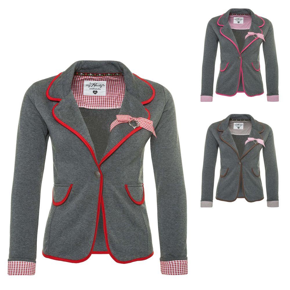 hailys damen sweat blazer jersey blazer anzugjacke oktoberfest trachten neu ebay. Black Bedroom Furniture Sets. Home Design Ideas