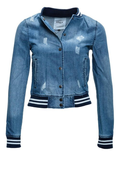 only damen jeans jacke collegejacke denim jacket used look 34 36 38 40 wow 50 ebay. Black Bedroom Furniture Sets. Home Design Ideas