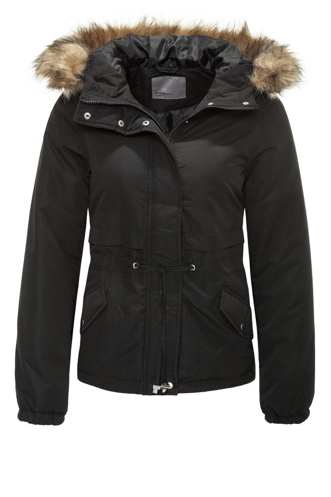 vero moda damen winterjacke kapuzenjacke parka blouson kurzmantel sale ebay. Black Bedroom Furniture Sets. Home Design Ideas