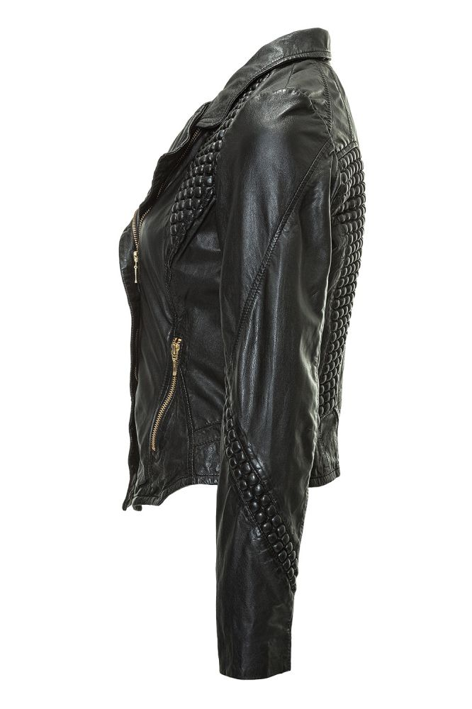 freaky nation damen lederjacke bikerjacke jacke leather. Black Bedroom Furniture Sets. Home Design Ideas