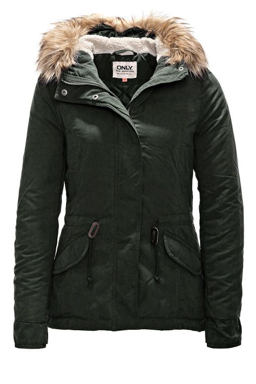 neu only damen winterjacke parka damenjacke kapuzenjacke jacke jacket coat wow ebay. Black Bedroom Furniture Sets. Home Design Ideas