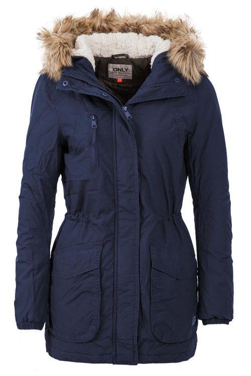 only damen parka jacke wintermantel women winter cotton coat dunkelblau ebay. Black Bedroom Furniture Sets. Home Design Ideas