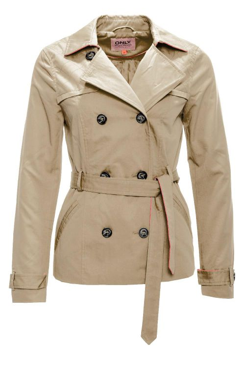 only damen bergangsjacke spring parka jacke short trenchcoat beige wow 35 ebay. Black Bedroom Furniture Sets. Home Design Ideas