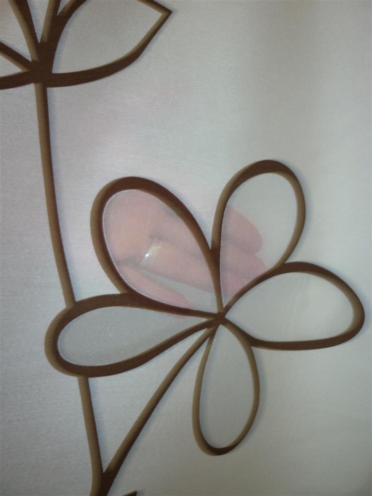 deko stoff gardine ausbrenner creme mit blumenranken. Black Bedroom Furniture Sets. Home Design Ideas