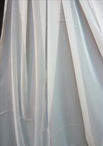 Stores Gardinen-Stoffe Vorhang transparent dünne Streifen creme Meterware NEU