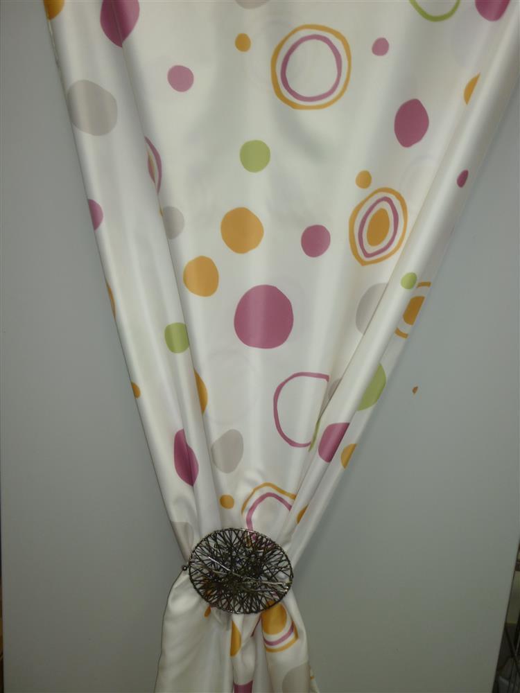 Deko stoff gardine vorhang druck kreise bunt blickdicht meterware neu ebay - Gardine kreise ...