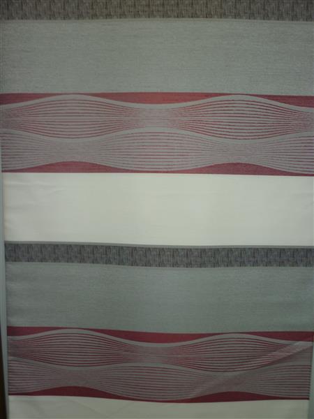 deko stoff gardine vorhang querstreifen welle rot braun. Black Bedroom Furniture Sets. Home Design Ideas