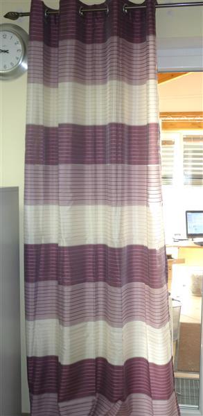 senschal easy creme beere fertigschal vorhang teiltransp 835501 040 245x140 cm ebay. Black Bedroom Furniture Sets. Home Design Ideas