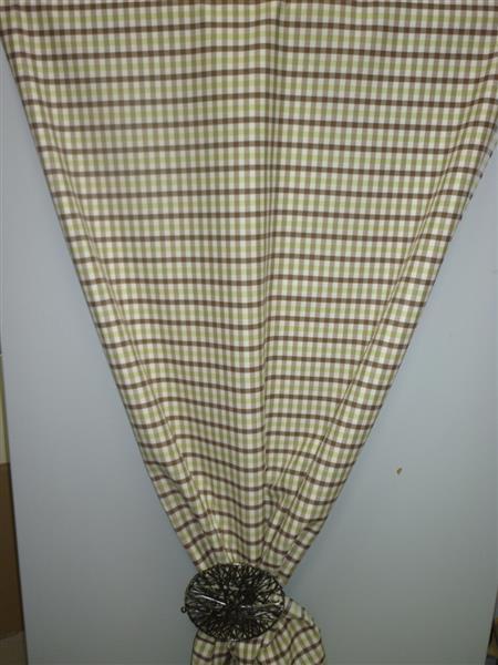 deko stoffe gardine vorhang landhaus karo 1 cm verschieden farben meterware ebay. Black Bedroom Furniture Sets. Home Design Ideas