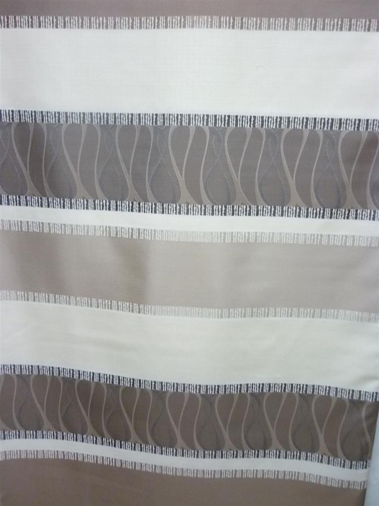 deko stoff gardine vorhang breite streifen beige braun. Black Bedroom Furniture Sets. Home Design Ideas