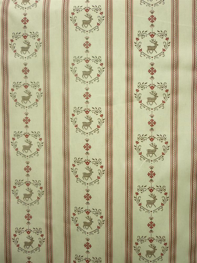 wohnzimmer beige rot:Deer Fabric Curtains