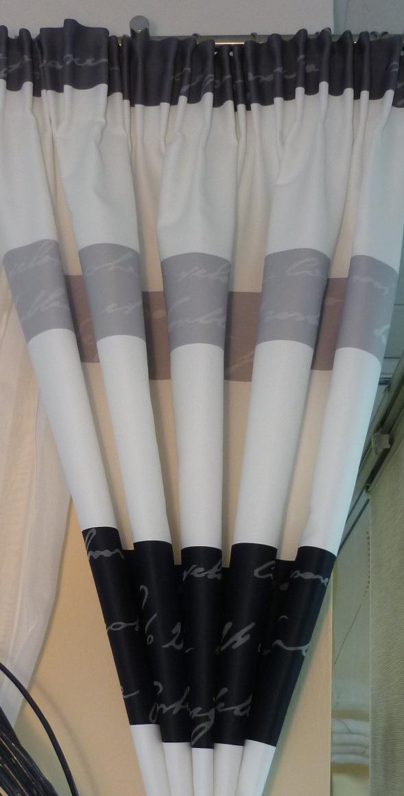 vorhänge schwarz weiß gemustert | möbelideen - Gardinen Modern Wohnzimmer Schwarz Weis