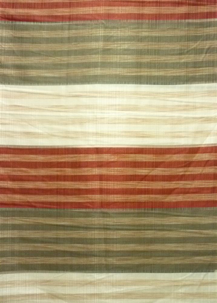 deko stoff gardine vorhang querstreifen natur rot braun. Black Bedroom Furniture Sets. Home Design Ideas