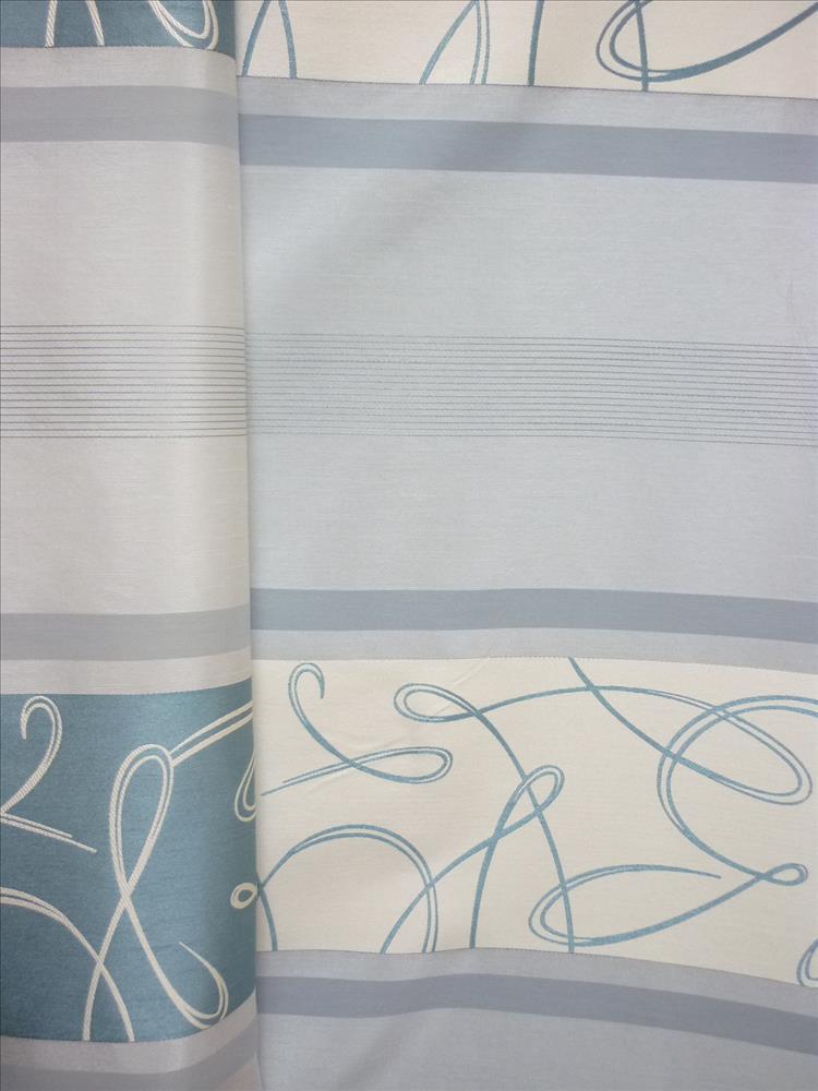 deko stoff gardine vorhang querstreifen ranke natur t rkis. Black Bedroom Furniture Sets. Home Design Ideas
