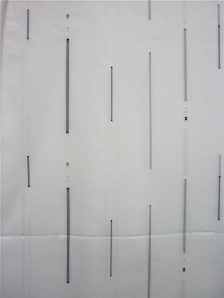 Stores Gardinen-Stoff Sherley Längsstreifen weiß/grau/schwarz ...